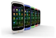 Rodzajowi smartphones (z cieniem) Obrazy Stock