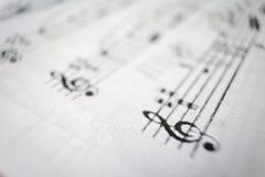 Rodzajowy muzyczny wynik Zdjęcia Stock