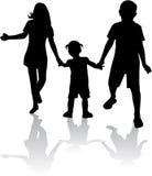 Rodzeństwa - sylwetki ilustracji