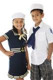 Rodzeństwo żeglarzi Obraz Stock