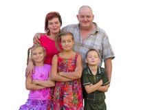 Rodzice, dzieci i Obrazy Royalty Free
