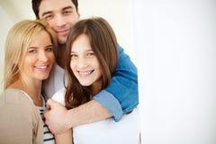 Rodzice i córka zdjęcia stock
