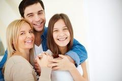 Rodzice i córka zdjęcia royalty free