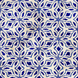 Rodzimego batikowego bezszwowego akwareli boho artystycznego stylu kwadrata kolorowy wzór Obrazy Stock