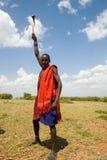 Rodzimy Masai wojownik Zdjęcia Royalty Free