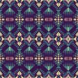 Rodzimy Południowo-zachodni amerykanin, indianin, aztek, Navajo bezszwowy wzór geometryczny wzór royalty ilustracja