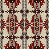 Rodzimy Południowo-zachodni amerykanin, indianin, aztek, Navajo bezszwowy wzór geometryczny wzór ilustracja wektor