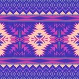 Rodzimy Południowo-zachodni amerykanin, indianin, aztek, Navajo bezszwowy wzór geometryczny wzór ilustracji