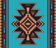 Rodzimy Południowo-zachodni amerykanin, indianin, aztek, Navajo bezszwowy tupocze ilustracji