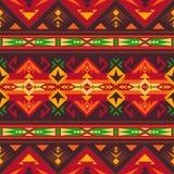 Rodzimy Po?udniowo-zachodni amerykanin, indianin, aztek, Navajo bezszwowy wz?r geometryczny wz?r ilustracji