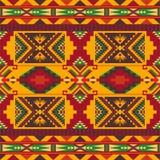 Rodzimy Po?udniowo-zachodni amerykanin, indianin, aztek, Navajo bezszwowy wz?r geometryczny wz?r ilustracja wektor