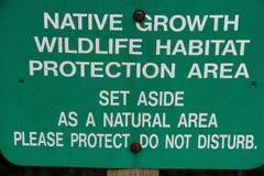 Rodzimy Wzrostowy przyrody siedliska ochrony terenu znak Obrazy Royalty Free