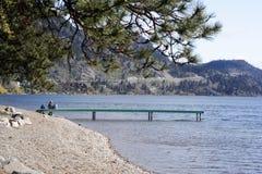 rodzina brzegu jeziora Zdjęcia Royalty Free