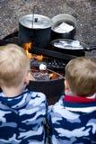 rodzina campingowa Fotografia Royalty Free