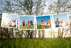 Rodzina cieszy się życie wpólnie fotografia stock
