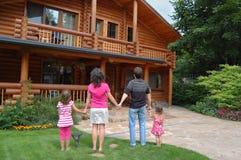 rodzina dom Zdjęcia Stock