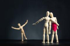 Rodzina drewniane postacie Obraz Stock