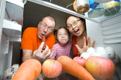 rodzina głodna zdjęcia royalty free