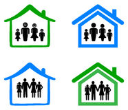 Rodzina i dom ilustracji