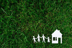 Rodzina I dom Obrazy Royalty Free