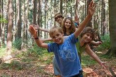 Rodzina i drzewo Obrazy Royalty Free