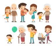 Rodzina i dzieciaki Fotografia Stock