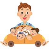 Rodzina i przejażdżka Zdjęcia Royalty Free