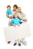 Rodzina i reklama Zdjęcia Stock