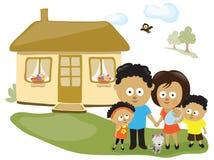 Rodzina ich domem royalty ilustracja