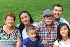 Rodzina imigranci w usa obraz royalty free