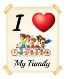rodzina ja kocham mój Fotografia Stock