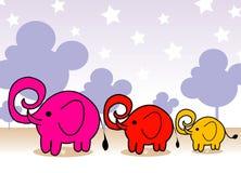 rodzina jest słoń Zdjęcia Royalty Free