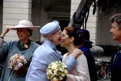 RODZINA KRÓLEWSKA PRZYJEŻDŻA DUŃSKIEGO parlamentu otwarcie Zdjęcia Royalty Free