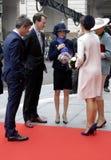 RODZINA KRÓLEWSKA PRZYJEŻDŻA PRZY DUŃSKIM parlamentu otwarciem Fotografia Royalty Free