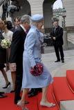 RODZINA KRÓLEWSKA PRZYJEŻDŻA PRZY DUŃSKIM parlamentu otwarciem Zdjęcia Royalty Free