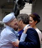 RODZINA KRÓLEWSKA PRZYJEŻDŻA PRZY DUŃSKIM parlamentu otwarciem Obrazy Royalty Free
