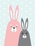 Rodzina króliki w skandynawa stylu Zdjęcia Royalty Free