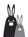Rodzina króliki w skandynawa stylu Obrazy Royalty Free
