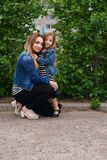 rodzina Matka i córka Obrazy Royalty Free
