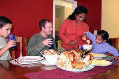 rodzina na Święto dziękczynienia Obrazy Stock