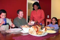 rodzina na Święto dziękczynienia Obraz Royalty Free