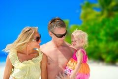 Rodzina na plaży Zdjęcie Royalty Free