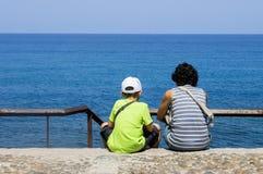 Rodzina na plaży Fotografia Royalty Free