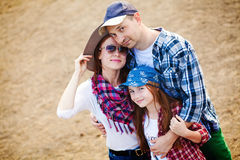 Rodzina na rancho Zdjęcia Royalty Free
