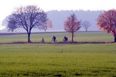 rodzina na rowerze Fotografia Stock