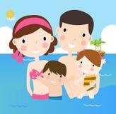 Rodzina na wakacjach ilustracji