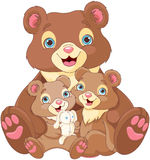 rodzina niedźwiedzi Zdjęcie Royalty Free