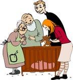 rodzina nowonarodzona ilustracja wektor