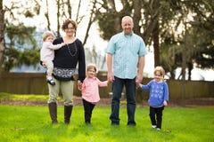 Rodzina Pięć ludzi Obraz Stock