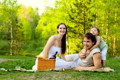 rodzina pinkin Fotografia Royalty Free